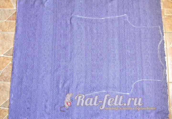 нарисованный контур на ткани