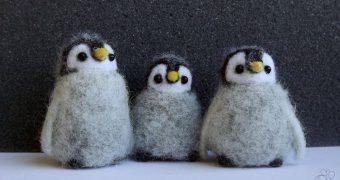 Миниатюра к статье Пингвин из шерсти - симпатичный сувенир