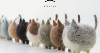 Миниатюра к статье Woonya: очаровательные японские котики из шерсти