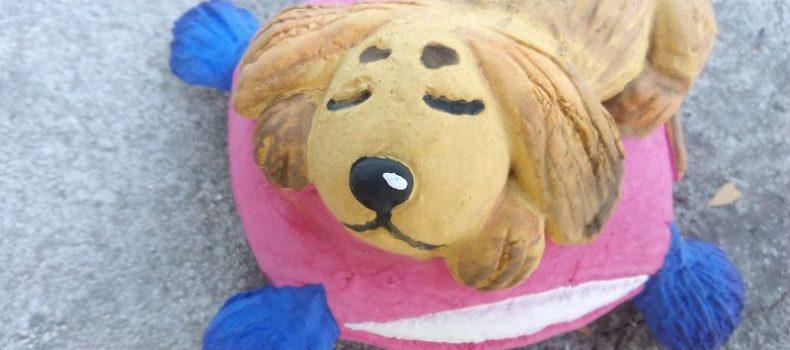Миниатюра к статье Собака из соленого теста своими руками