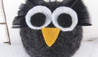 Миниатюра к статье Как свалять сову из шерсти быстро и просто