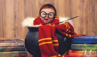 Миниатюра к статье Гарри Поттер— прелестная фотосессия четырехмесячной девочки