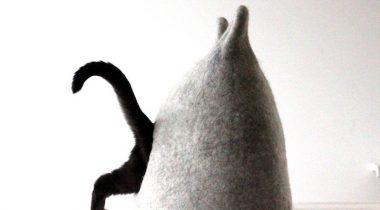 Миниатюра к статье Динь-дон, у нас чудесный кошкин дом! Валяные домики от Агни Удежиен