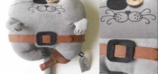 Миниатюра к статье Подушка кот своими руками: выкройки, фото идеи, видео мастер-классы